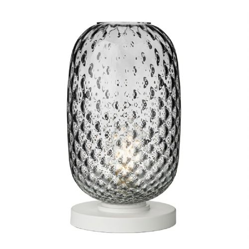 Vidro Table Lamp Smoked Glass Large VID4310 (Hand made, 7-10 day Delivery)